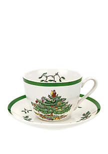 Christmas Tree Cup and Saucer - 7-oz.