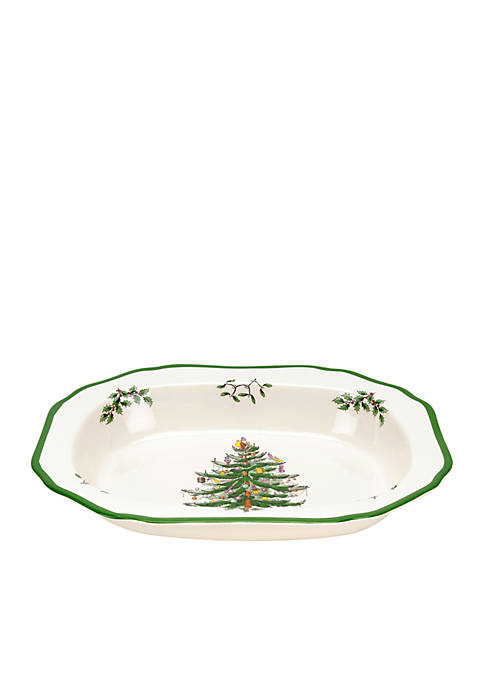 Spode Christmas Tree Oval Vegetable Bowl