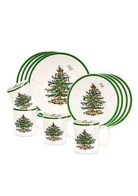 spode christmas tree 12 piece set - Christmas Plates