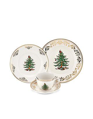 Spode Christmas Tree.Spode Christmas Tree Gold Dinnerware
