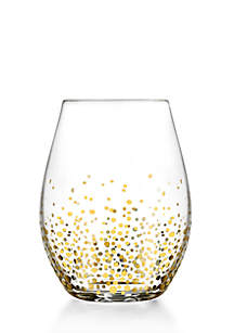 Gold Luster Stemless Wine Glass, Set of 4