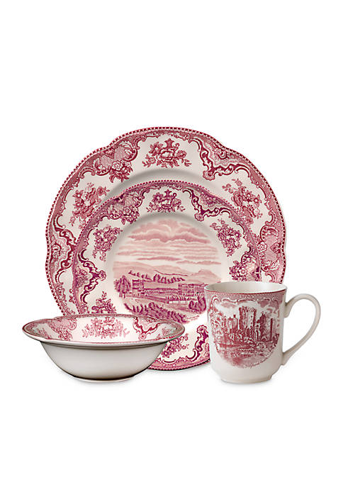 Johnson Brothers Old Britain Castles Pink 4-Piece Place