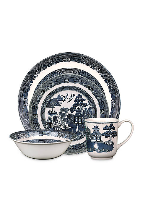 Johnson Brothers Blue Willow 4-Piece Place Setting