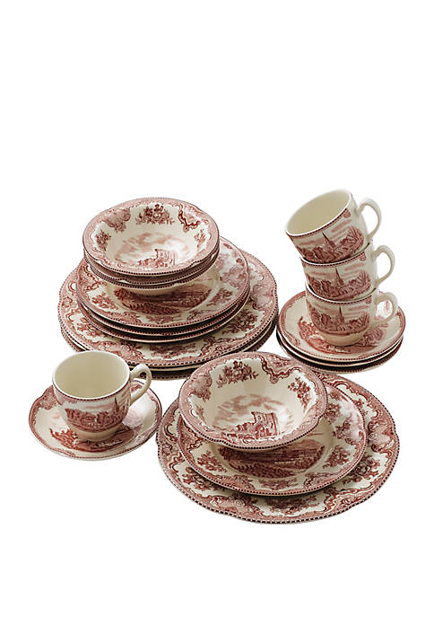 Johnson Brothers 20 Piece Old British Castle Dinnerware