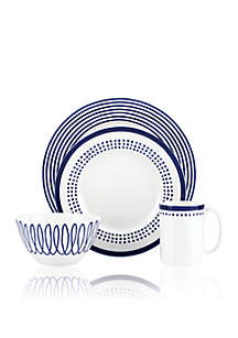 Charlotte Street East Blue 4- Piece Place Setting