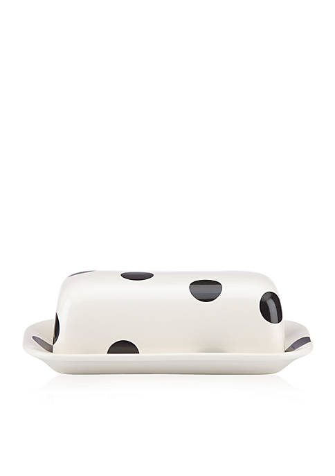 all in good taste Deco Dot Covered Butter Dish