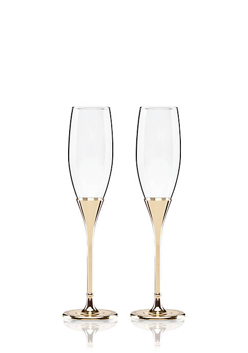 kate spade new york® Simply Sparkling Gold Flute