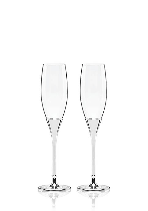 kate spade new york® Simply Sparkling Silver Flute