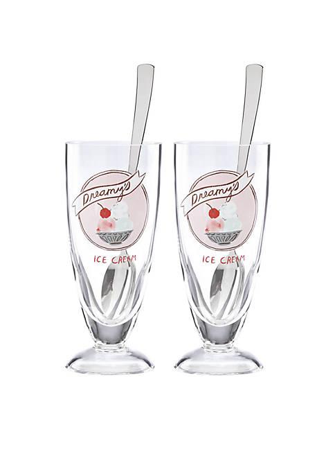 kate spade new york® Ice Cream Soda Glasses