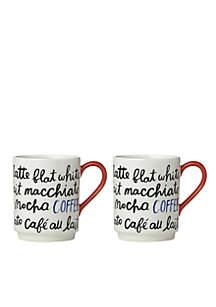 Coffee Mugs, Set of 2