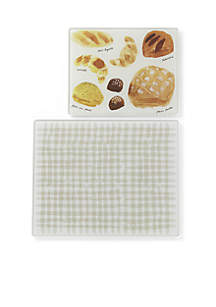 Gingham Glass Prep Board Set