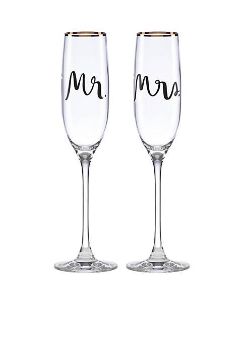 kate spade new york® Bridal Party Flute Pair