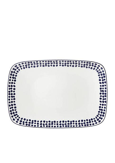 kate spade new york® Spring Street Cobalt Platter