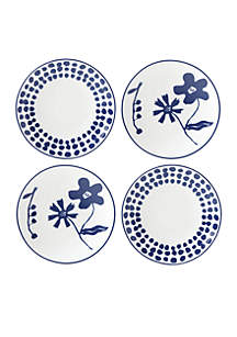 Spring Street Cobalt Tidbit Plates, Set of 4
