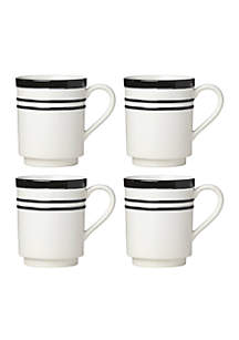 All In Good Taste Stripe Black Dinnerware Collection
