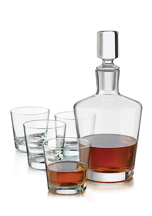 Perfect Whiskey Clear Decanter Set