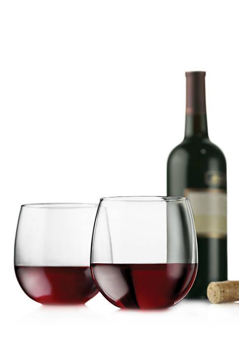 Libbey Vina Set of 4 Stemless Red Wine