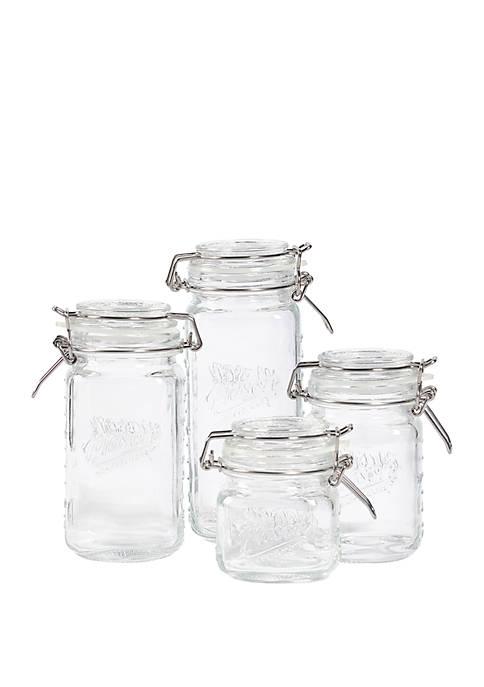Mason Craft & More Set of 4 Glass