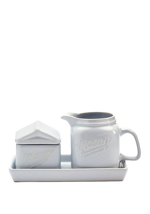 Sugar and Creamer Tray Set