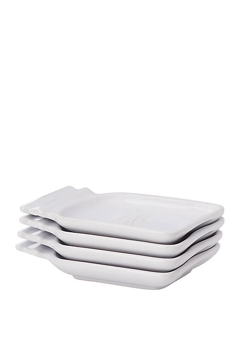 Set of 4 Jar Shape Appetizer Plates