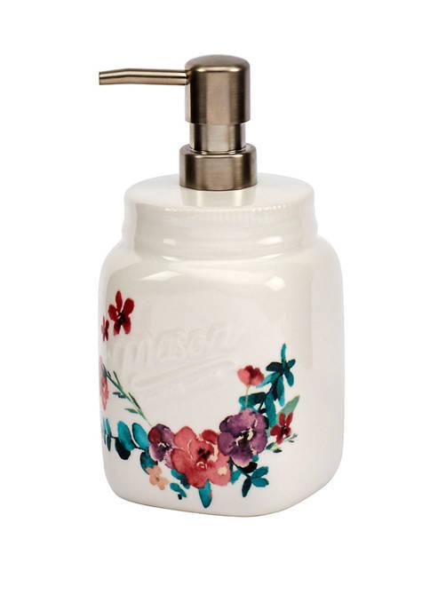 Mason Blossom Soap Dispenser