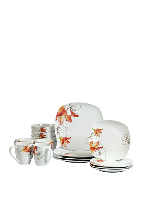 Lily Dinnerware 16 Piece Set
