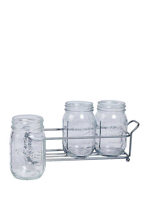 Glass Flatware Caddy