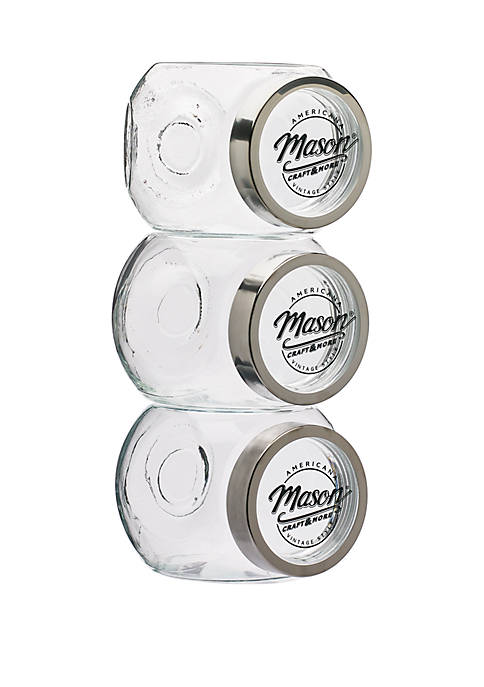 3 Piece Slanted Canister Set