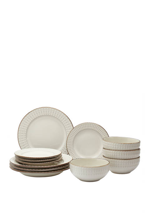 12 Piece White Dinnerware Set