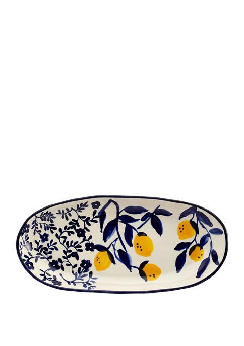 Lemon Orchard Oval Platter