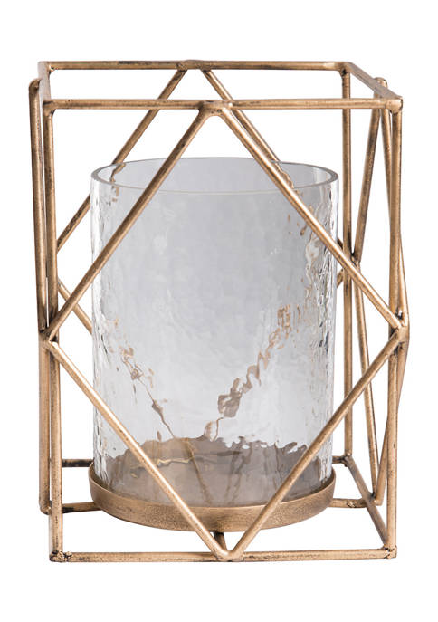 Home Essentials Gold Hurricane Candle Holder