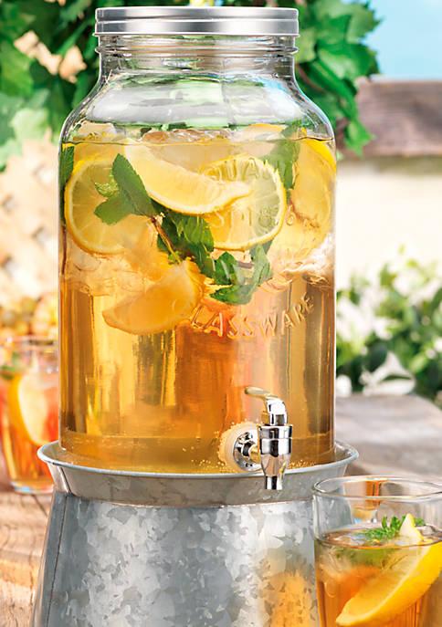 Beverage Dispenser On Galvanized Base, 1.5-gal.