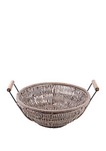 Home Essentials Round Woven Seagrass Tray