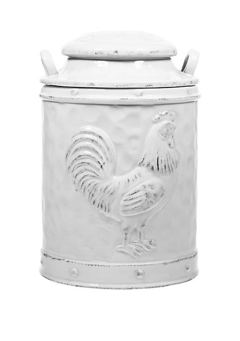 Home Essentials Medium Rooster Embossed Canister