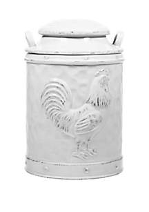 Home Essentials Large Embossed Rooster Canister