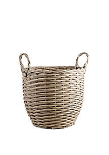 Home Essentials Large Rattan Round Basket