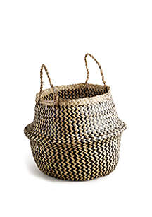 Home Essentials Large Zig Zag Seagrass Basket