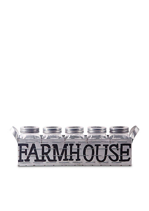 Home Essentials Fiddle & Fern Farmhouse Galvanized Tray