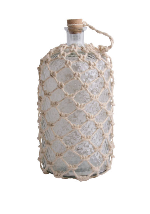 Home Essentials 13.5 Inch Clear Bottle with Jute