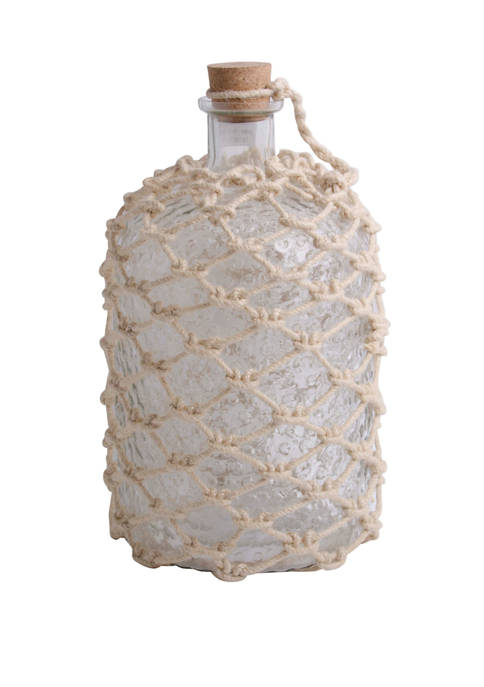Home Essentials 15 Inch Clear Bottle with Jute