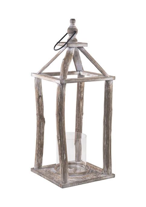Bazaar 20 Inch Wood Lantern