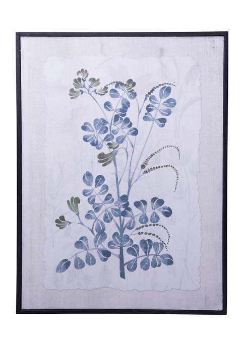 Home Essentials Blue Floral Art