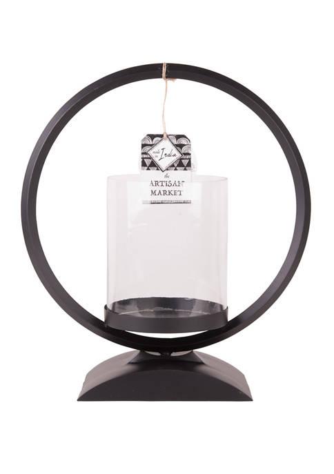 Home Essentials 14 Inch Round Centerpiece Hurricane Lamp