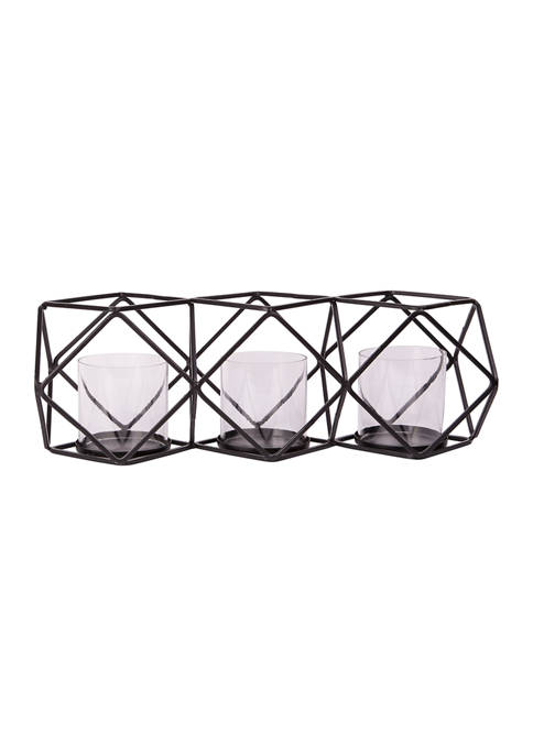 Home Essentials 3 Tealight Black Frame Holder