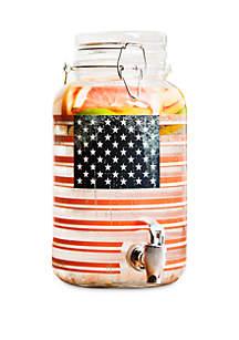 Home Essentials American Flag Beverage Dispenser