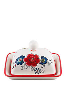 Home Essentials Molly Hatch Flower Patch Butter Dish with Lid