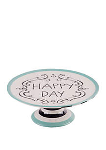 Home Essentials Molly Hatch Good Thoughts Happy Day Cake Stand