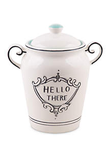 Home Essentials Molly Hatch Good Thoughts Hello There Covered Canister