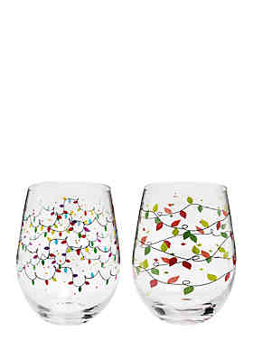 home essentials christmas lights wine glass