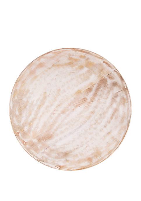 White Wash Mango Wood Round Platter